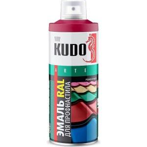 цена на Эмаль аэрозоль KUDO для профнастила ral 6002 зеленый лист 520мл. (6)ku-06002-r
