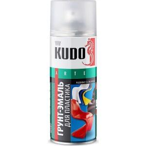 цена на Грунт-эмаль аэрозоль KUDO для пластика RAL 6005 зеленая 520мл. (12)ku-6008