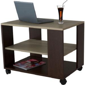 купить Стол журнальный Мебелик BeautyStyle 5 темно-коричневый/сонома без стекла по цене 4610 рублей