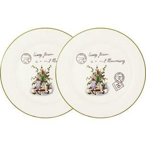 Набор из 2-х обеденных тарелок Anna Lafarg LF Ceramics Букет (AL-120E2257-3-B-LF) цена