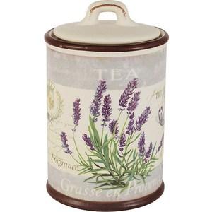 Банка для сыпучих продуктов (чай) Anna Lafarg LF Ceramics Лаванда (AL-190F8574-L-LF)