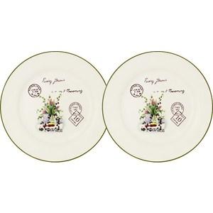 Набор из 2-х десертных тарелок Anna Lafarg LF Ceramics Букет (AL-55E2258-3-B-LF)