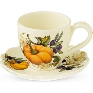 Чашка с блюдцем Nuova Cer Тыква (NC7417-ODN-AL) цена