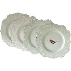 Набор из 4-х десертных тарелок Easy Life (R2S) Белое кружево (R2S1268_MADE-AL)