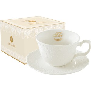 Чашка с блюдцем Easy Life (R2S) Белое кружево (R2S1269_MATE-AL) чашка с блюдцем easy life r2s роял белый r2s1282 wite al