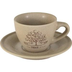 Чашка с блюдцем Terracotta Дерево жизни (TLY314S2-TL-AL)