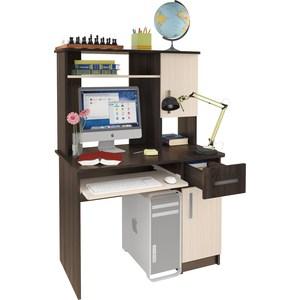 Компьютерный стол Атлант Интел 15 венге магия, дуб девонширский