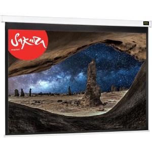 Фото - Экран для проектора Sakura 221x125 Motoscreen 16:9 настенно-потолочный (моторизованный) 100 лестница стремянка сибин 38803 09 стальная 9 ступеней 187см