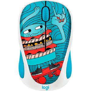 Мышь Logitech M238 Doodle Collection SKATEBURGER