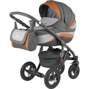 Коляска 3 в 1 Adamex Barletta New, (серый + светло-серый + оранжевый B-1 а.к. F-4) (GL000502500) цена