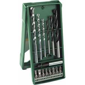 Набор бит и сверл Bosch 15шт Mini-X-Line (2.607.019.579) doreenbeads zinc metal alloy toggle clasps flower antique silver 25 5mm x12mm 1 x 4 8 16mm x8mm 5 8 x 3 8 8 sets