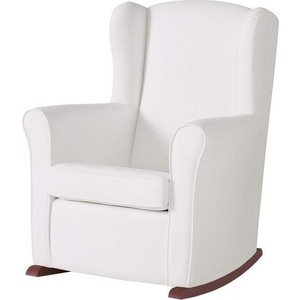 Кресло-качалка Micuna Wing/Nanny chocolate/white искусственная кожа (Э0000016231) кресло качалка micuna wing flor white кожаная обивка цвет обивки leatherette grey искусственная кожа