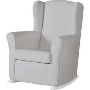 Кресло-качалка Micuna Wing/Nanny white/grey искусственная кожа (Э0000015026) кресло качалка micuna wing flor white кожаная обивка цвет обивки leatherette grey искусственная кожа