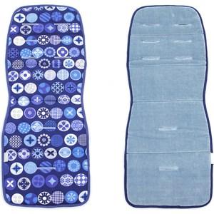Матрас в коляску Ceba Baby Circles blue W-814-071-162 (Э0000017183) одеяло конверт ceba baby magic tree blue принт w 810 072 160 э0000016393