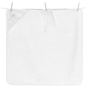 Полотенце-уголок Funnababy Premium Baby 90*90см + варежка белый (Э0000015994)
