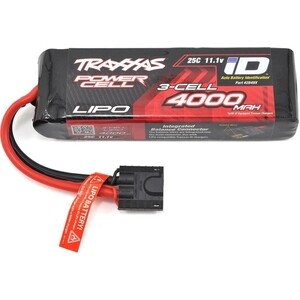 Аккумулятор TRAXXAS 4000мАч 11.1В 3 Cell 25C Li-Po Battery (iD Plug) ultrafire zs 07 18650 3 7v 1000mah lithium rechargeable battery w us plug charger black