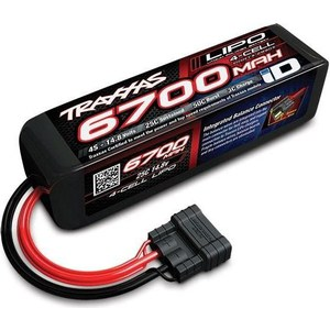 Аккумулятор TRAXXAS 6700мАч 14.8В 4 Cell 25C Li-Po Battery (iD Plug) аккумулятор traxxas 2200мач 7 4в 2 cell 25c li po battery id plug