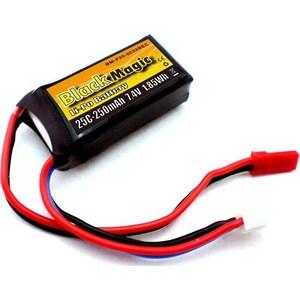 Аккумулятор Black Magic Li-Po 7.4В 2S 25C 250мАч аккумулятор traxxas li po 7 4в 2s 25c 3300мач