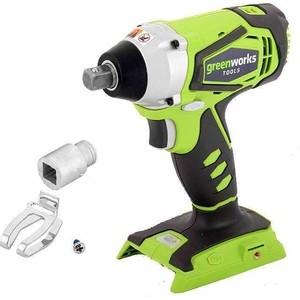 Гайковерт ударный аккумуляторный GreenWorks G24IW (3801207) винтоверт ударный greenworks 24в бесщеточный