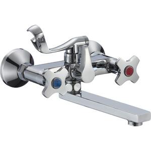 Смеситель для ванны РМС SL115 с коротким изливом (SL115-142E) смеситель для ванны рмс sl77 белый с коротким изливом sl77w 009e