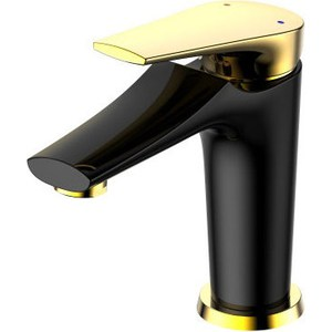 все цены на Смеситель для раковины РМС SL122 черный, золотистый (SL122BL-001F) онлайн