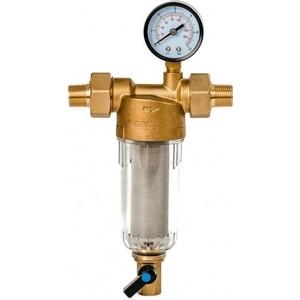 Фильтр предварительной очистки Гейзер Бастион 112 1/2 (с манометром, для холодной воды, d60) (32670)