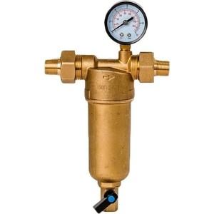 Фильтр предварительной очистки Гейзер Бастион 122 1/2'' (с манометром, для горячей воды воды, d60) (32672) Бастион 122 1/2