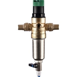 Фильтр предварительной очистки Гейзер Бастион 7508155201 (1/2 для горячей воды, с регулятором давления d52,5) (32682)