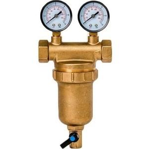 Фильтр предварительной очистки Гейзер Бастион 7508145201 (3/4 для горячей воды, с двумя манометрами d76) (32685) цена и фото