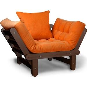 Кресло Anderson Сламбер орех-оранжевый вельвет