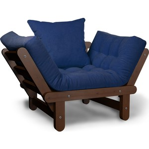 Кресло Anderson Сламбер орех-синий вельвет