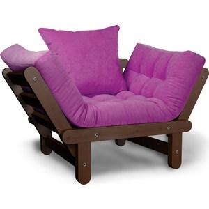 Кресло Anderson Сламбер орех-фиолетовый вельвет