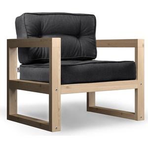 Кресло Anderson Астер сосна-черная рогожка.