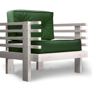 Кресло Anderson Стоун бел дуб-зеленый кож.зам