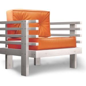 Кресло Anderson Стоун бел дуб-оранжевый кож.зам