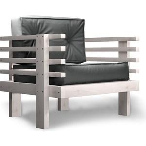 Кресло Anderson Стоун бел дуб-серый кож.зам