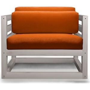 Кресло Anderson Магнус бел дуб-оранжевый вельвет. кресло anderson сламбер орех оранжевый вельвет