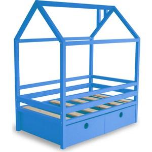Кровать Anderson Дрима BOX голубая 90x190 детская кровать домик андерсон дрима н