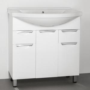 Тумба с раковиной Style line Жасмин 80 белая (2000949010281 + 1WH109653)