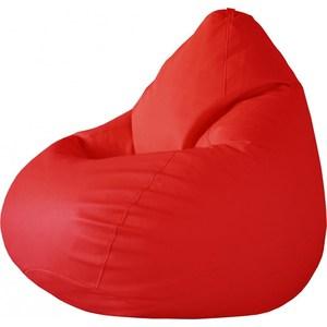 Кресло-груша Папа Пуф Экокожа красный