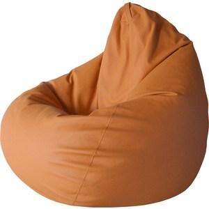 Кресло-груша Папа Пуф Экокожа оранжевый