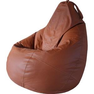 Кресло Папа Пуф Boss brown натуральная кожа