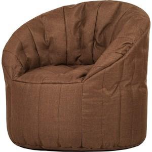 Бескаркасное кресло Папа Пуф Club chair chocolate цена 2017