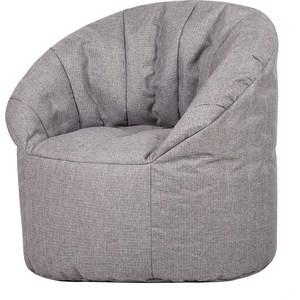Бескаркасное кресло Папа Пуф Club chair grey цена 2017