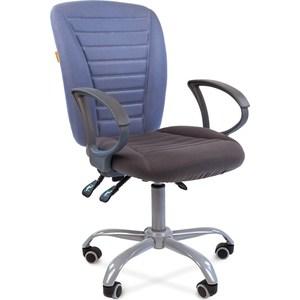 Кресло Chairman 9801 эрго серо/голубой все цены