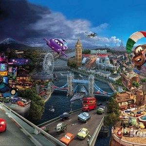 Фотообои Disney Cars World (3,68х2,54 м) disney cars 61 см