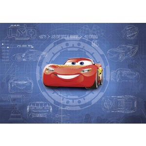 Фотообои Disney Cars3 Blueprint (3,68х2,54 м)