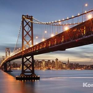 Фотообои Komar Bay Bridge (3,68х2,54 м) (8-733) 10 pcs bone slotted bridge nut up saddle for classical guitar 52mmx6mmx9 8 5mm
