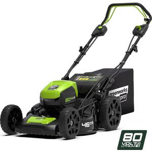 Газонокосилка аккумуляторная самоходная GreenWorks GD80LM46 (2501007) газонокосилка 80в greenworks tools 2501007
