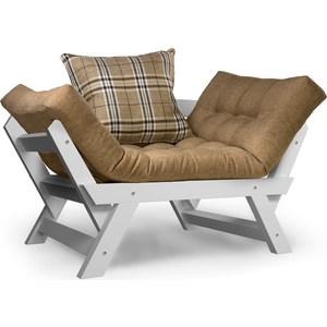 Кресло Anderson Отман эмаль-бежевая рогожка.